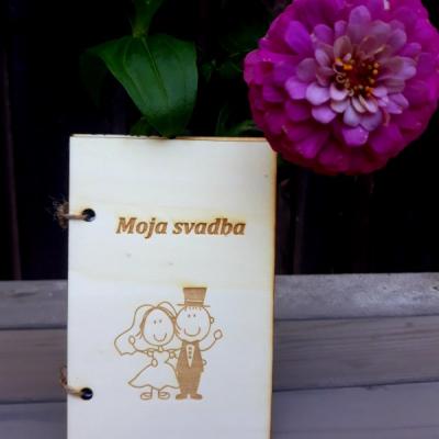 Drevenný zápisník - moja svadba