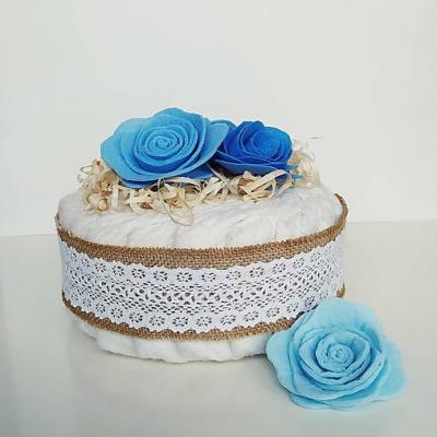 Plienkova vintage torta - modrá
