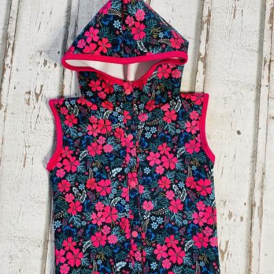 Softshellová vesta Kvety