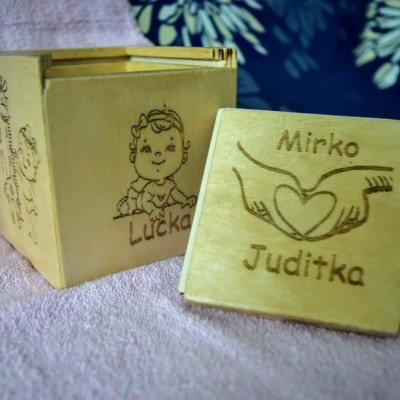 Pamätná krabička ku narodeninám dievčatka