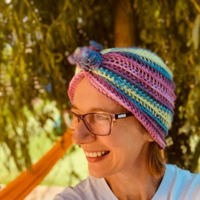Bambusový turban - Trojruža, vhodný aj pre veľkáčky Onkoláčičky 😍
