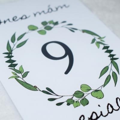 Míľniková kartička na želanie dizajn