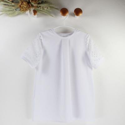 Biele šaty s MADEIROU, krátky rukáv