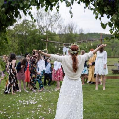 Svadobný dlhý cardigán  (alpaca)