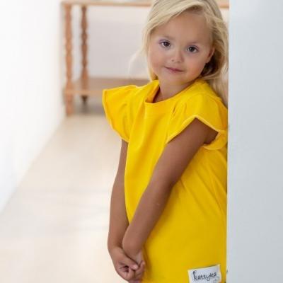 Dievčenské tričko s volánikmi