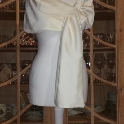 Štóla k svadobným šatám 180cm