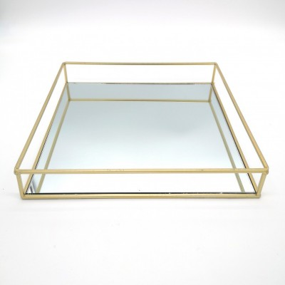 Prenájom - Zrkadlový podnos, zlatý