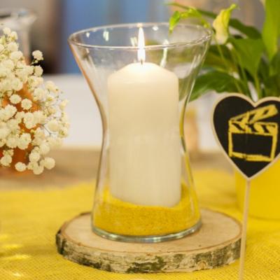 Prenájom - sklenená váza 19,5 cm