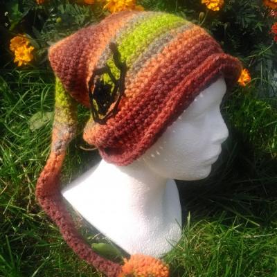 škriatkovská čiapka jesenných farib