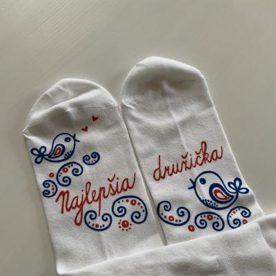 Maľované ponožky pre najlepšiu družičku / kamošku / manželku