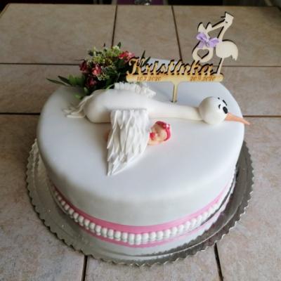 zápich na tortu  - krst