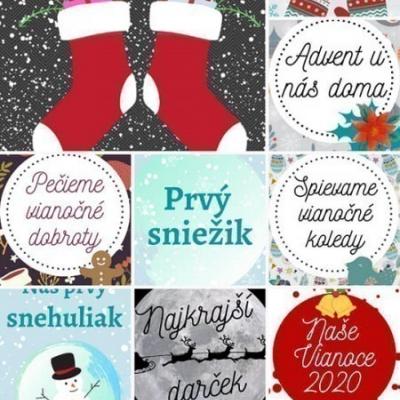 Vianočné míľnikové kartičky 9x13cm