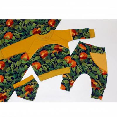 Originálna mikina s motívom leva a džungle