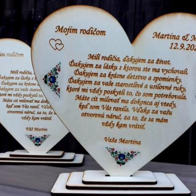 Ďakovné svadobné srdcia - folk