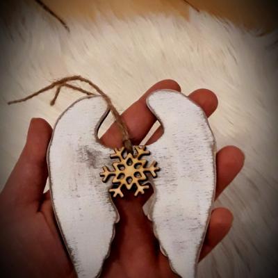 Vianočné krídla - patinované