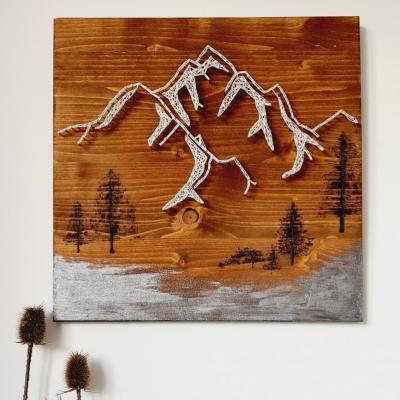 Hory, lesy (string art)