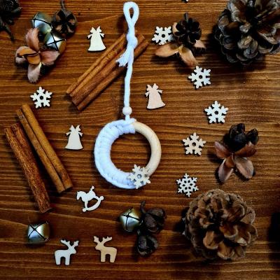 Vianočné ozdoby - drevený krúžok (malý)