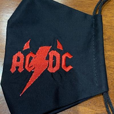 Rúško ACDC red red