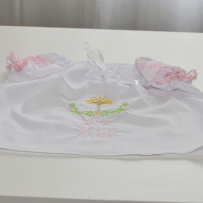 Dievčenská krstná košieľka ruzová