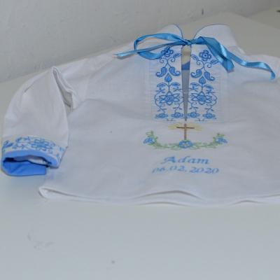 Krstna kosielka svetlo modra