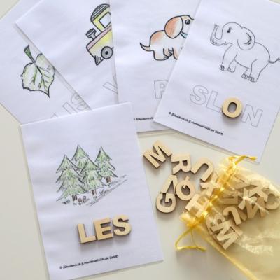 Kreatívne písmenká ABECEDA – tvorenie prvých slov