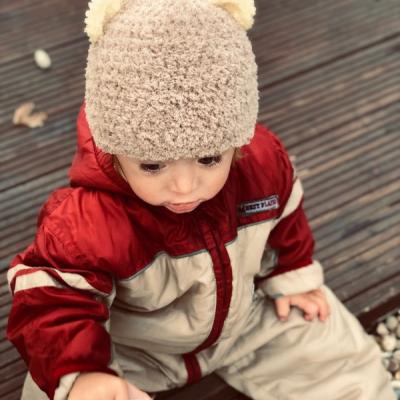 Zimná čiapočka -Hnedý macko,vhodná pre malé Onkoláčičky 😍 a malých Onkoláčikov 😍