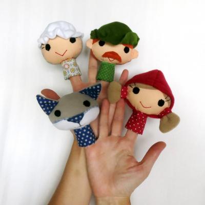 Sada maňušiek na prst - Rozprávka o Červenej čiapočke
