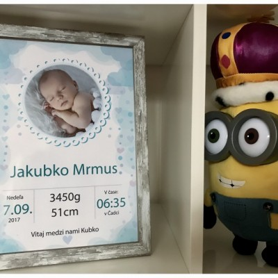 Tabuľka pre novorodenca