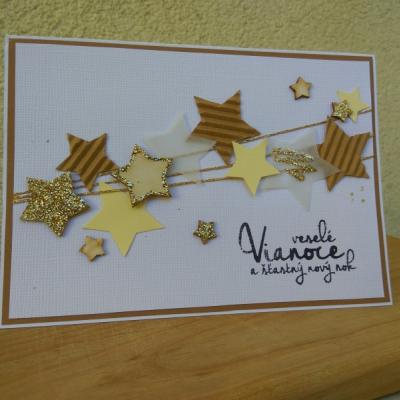 Vianočná pohľadnica Hviezdy