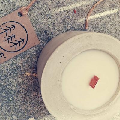 Sójová sviečka STONE