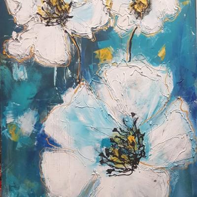 Obraz biele kvety