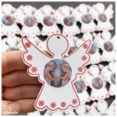Drevený anjelik - vianočná ozdoba