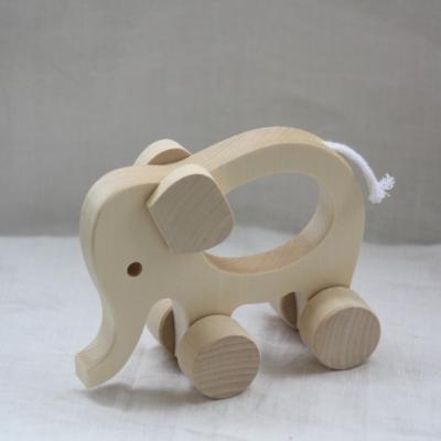 Drevené hračky. Zvieratká s otvorom pre uchopenie. 4 druhy.