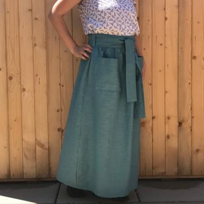 Silná  - celoročná ľanová maxi sukňa