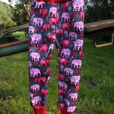 Softshellové nohavice - sloníci / na objednávku
