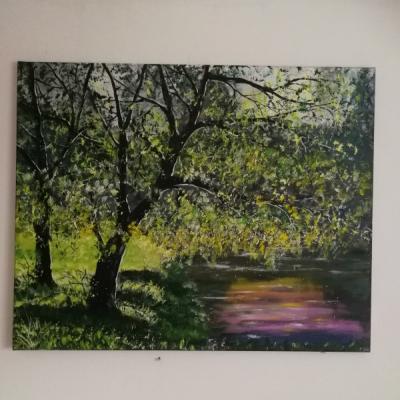 Maľovaný obraz na plátne