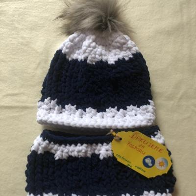 Zimná čiapka a nákrčník - Bobble set