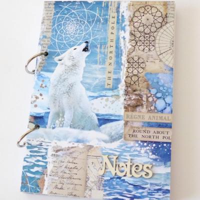 zápisník s vlkom