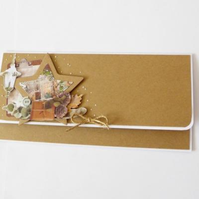 darčeková obálka na peniaze vianočná