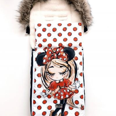 Fusak pre dievčatko - Myška a červené body