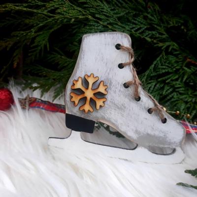 Vianočná dekorácia - korčuľa