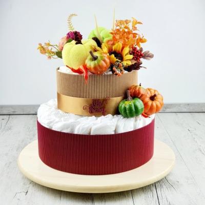 Plienková torta-jeseň/ malá + DARČEK