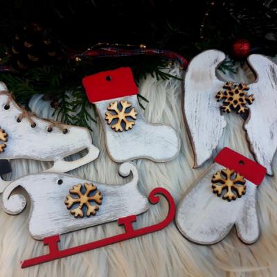 vianočná sada - patinovaná