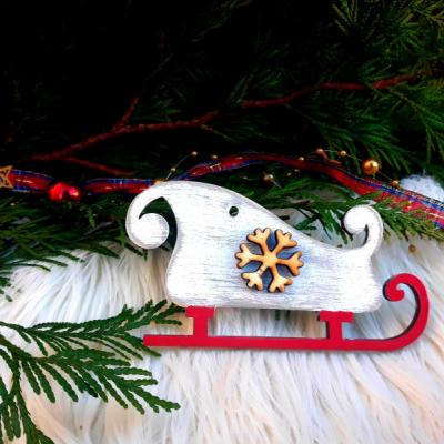 Vianončná dekorácie - sane