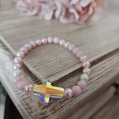 Swarovski pink Kríž