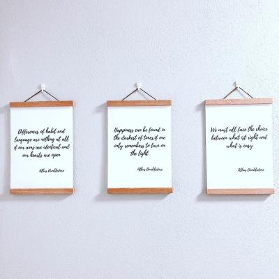 SET troch plagátov s rámom s citátmi A. Dumbledora (A4)