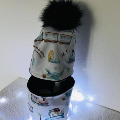 Zimná detská čiapka s nákrčníkom