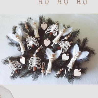 Vianočné ozdoby so srdiečkom