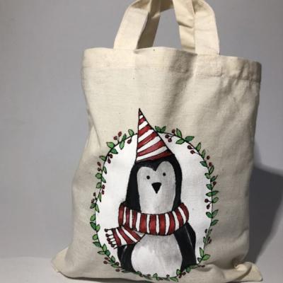Maľovaná taštička - tučniačik