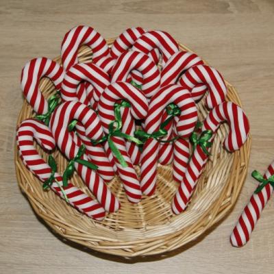 Vianočné lízanky s mašličkou